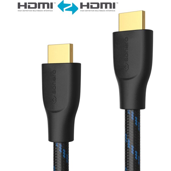 HDMI/A Kab.ST-ST   0,5m Ether. 3D, 4K, 18Gbps, HDR, Schwarz