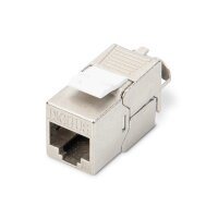 Keystone Jack CAT.6a RJ45 STP Toolless, Re-Embedded