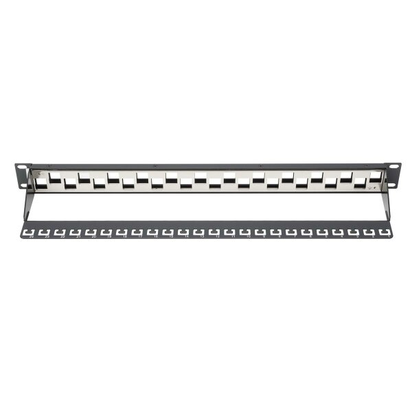 Patchpanel Modular 24port 1HE 19 1HE, RAL9005, shielded v.