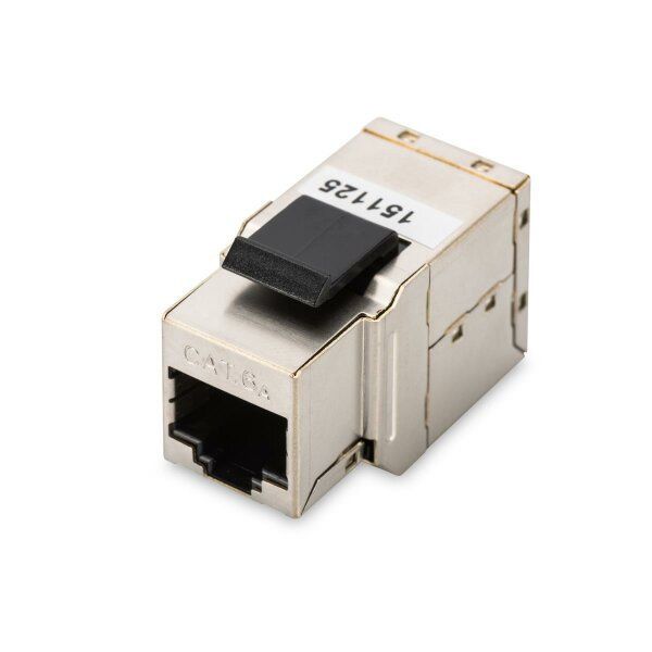 Modular coupler 1-1 RJ45 Cat6a 1xRJ45 to1x RJ45 shielded