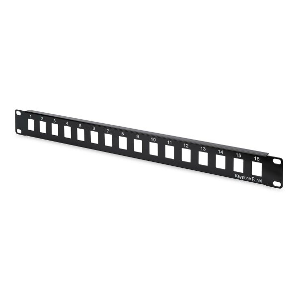 """Patchpanel Modular 16port 1HE 19"""" 1HE, RAL9005, unshielded"""