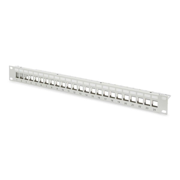 """Patchpanel Modular 24port 1HE 19"""" 1HE, RAL7035 shielded"""