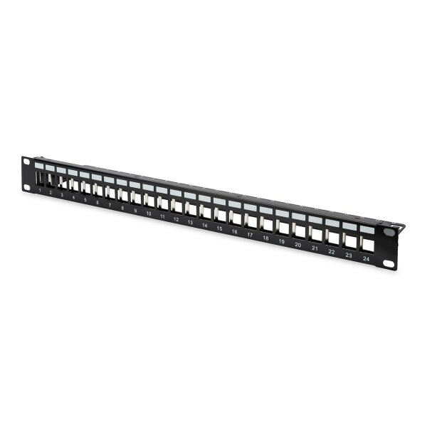 """Patchpanel Modular 24port 1HE 19"""" 1HE, RAL9005 shielded"""