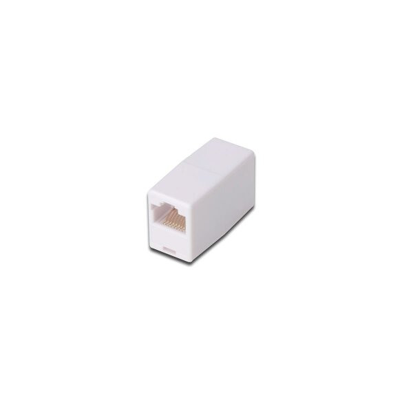 Modular coupler 1-1 RJ45 Cat5e 1xRJ45 to1x RJ45 unshielded